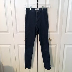 American Apparel High-waisted Super Skinny Jeans